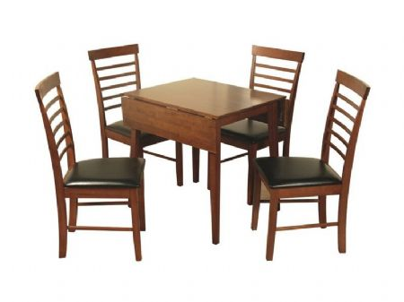 hanover dark square drop leaf table with 4 chairs